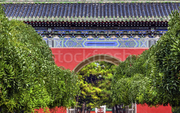 Red Gate Temple of Sun City Park Beijing, China Stock photo © billperry