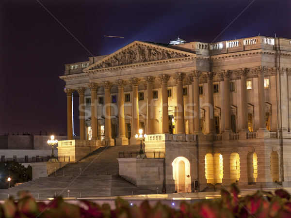 Stock fotó: Ház · észak · oldal · éjszaka · csillagok · mos