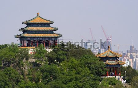 Longevity Hill Pagoda Tower Summer Palace Beijing China Stock photo © billperry