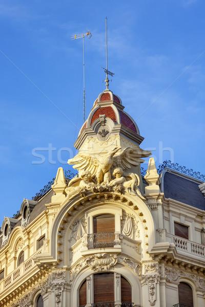 Díszes spanyol épület kupola Spanyolország öreg Stock fotó © billperry