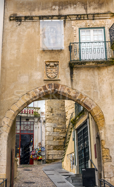 Old Arch Arco de  Almediina Medieval City Coimbra Portugal Stock photo © billperry