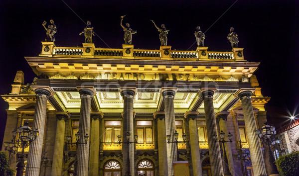 Theater Mexico nacht gebouw stad kunst Stockfoto © billperry