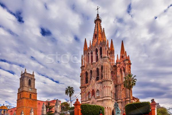 Igreja México cidade praça nuvens edifício Foto stock © billperry