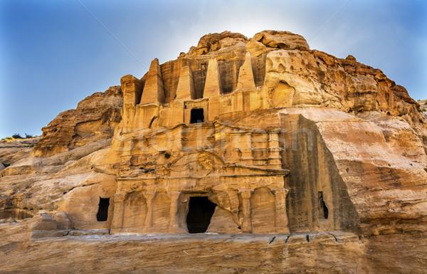 Obelisk Tomb Bab el-siq Triclinium Outer Siq Canyon Entrance Pet Stock photo © billperry