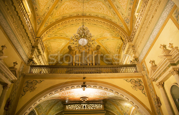 Organ Yellow Arch Basilica Guanajuato Mexico Stock photo © billperry