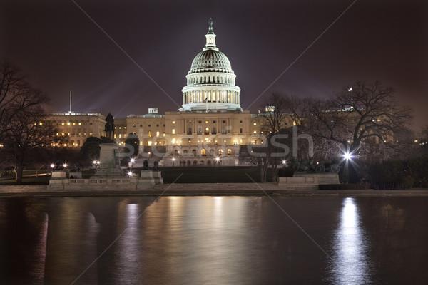 ночь Размышления город Вашингтон конгресс дома Сток-фото © billperry