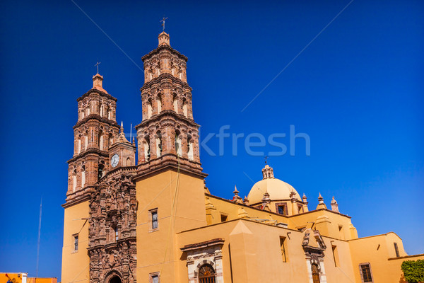 Parroquia Cathedral Dolores Hidalalgo Mexico Stock photo © billperry