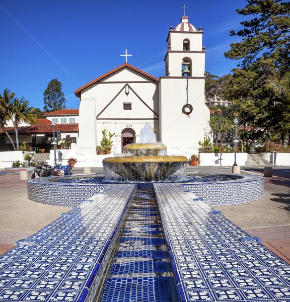 мексиканских плитка фонтан миссия Калифорния отец Сток-фото © billperry