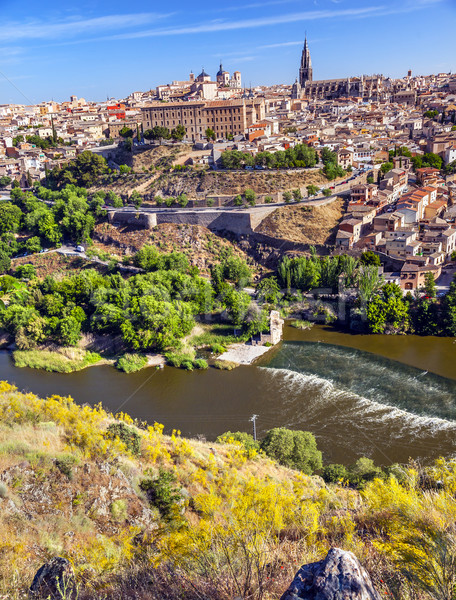 Cathedral Chhurches Medieval City Tagus River Toledo Spain Stock photo © billperry