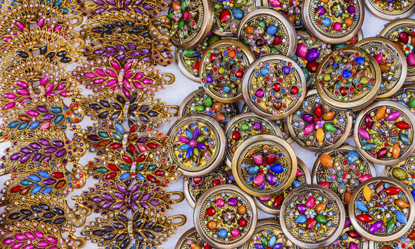 Stock photo: Colorful Mexican Souvenir Jewerly Guanajuato Mexico