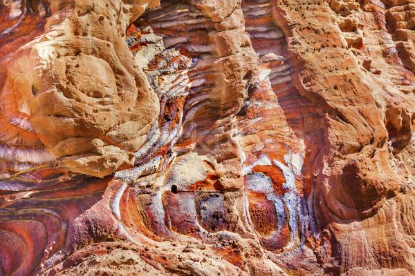 Piros kő absztrakt királyi Jordánia hirdetés Stock fotó © billperry