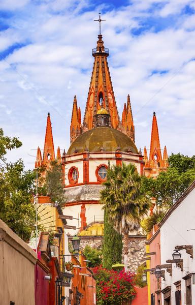 Aldama Street Parroquia Archangel Church San Miguel de Allende M Stock photo © billperry