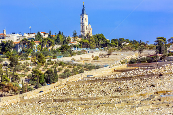 Mount of Olives Jewish Cemetaries Church of Ascension Jerusalem  Stock photo © billperry