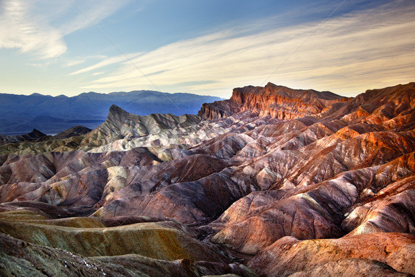 Zabruski Point Manly Beacon Death Valley National Park Californi Stock photo © billperry