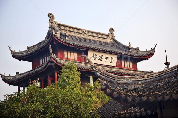 Pan Men Water Gate Ancient Chinese Pavilion Suzhou China Stock photo © billperry