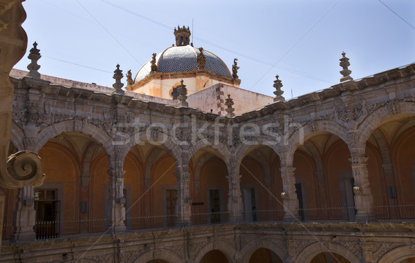 Church Art Musem Orange Arche Courtyard Queretaro Mexico Stock photo © billperry