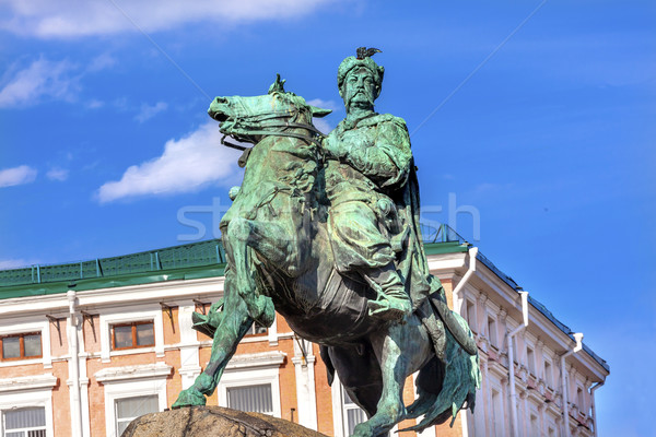 Bogdan Khmelnitsky Equestrian Statue Sofiyskaya Square Kiev Ukra Stock photo © billperry