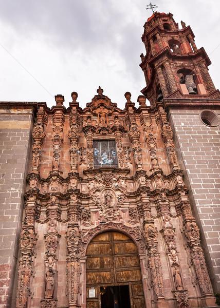 Photo stock: San · Francisco · façade · église · Mexique · espagnol · baroque