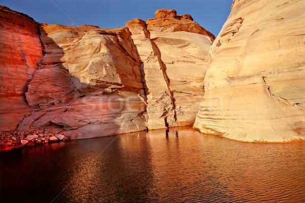 Orange Pink Antelope Canyon Reflection Lake Powell Arizona Stock photo © billperry