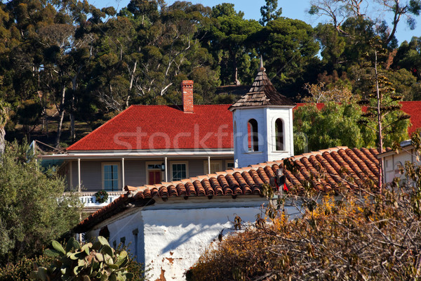 Old San Diego Town Roofs Cupola Casa de Estudillo California  Stock photo © billperry