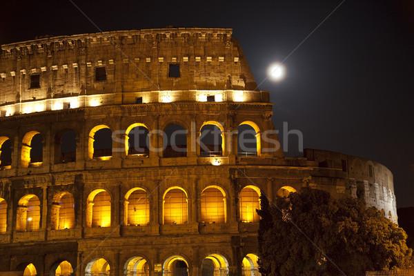 Stockfoto: Colosseum · groot · maan · details · Rome · Italië