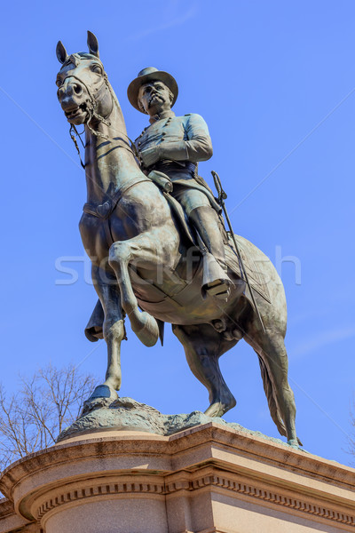 General Winfield Scott Hancock Equestrian Statue Civil War Memor Stock photo © billperry