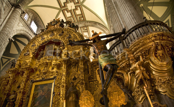 Inside of Metropolitan Cathedral, Zocalo, Cneter, Mexico City Stock photo © billperry