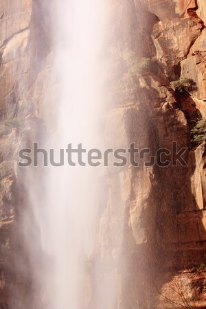 Falling Water Weeping Rock Waterfall Red Rock Wall Zion Canyon N Stock photo © billperry
