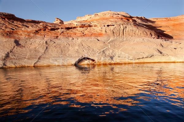Canyon Reflexion See Arizona weiß Bronze Stock foto © billperry