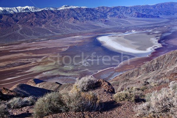Badwater from Dante View with Panamint Mountains Death Valley Na Stock photo © billperry