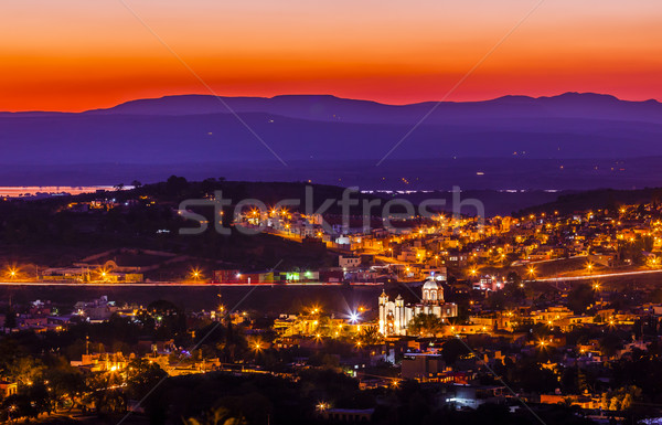 White Church San Miguel de Allende Mexico Miramar Overlook Mount Stock photo © billperry