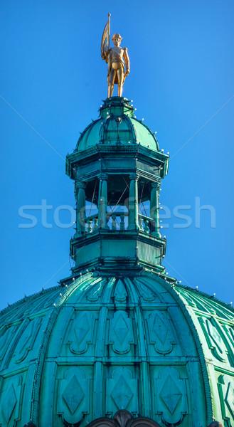 Golden Vancouver Statue Provincial Capital Legislative Buildiing Stock photo © billperry