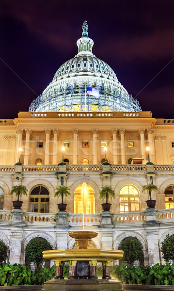 US Capitol South Side Construction Night Stars Washington DC Stock photo © billperry