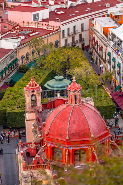 Templo de San Diego Jardin Union Garden Guanajuato Mexico  Stock photo © billperry