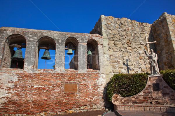 Father Serra Statue Bells Mission San Juan Capistrano Church Rui Stock photo © billperry