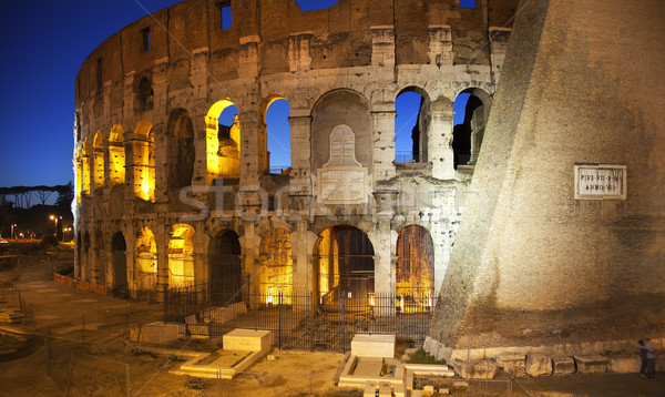Colosseum aşıklar gece Roma İtalya sevmek Stok fotoğraf © billperry