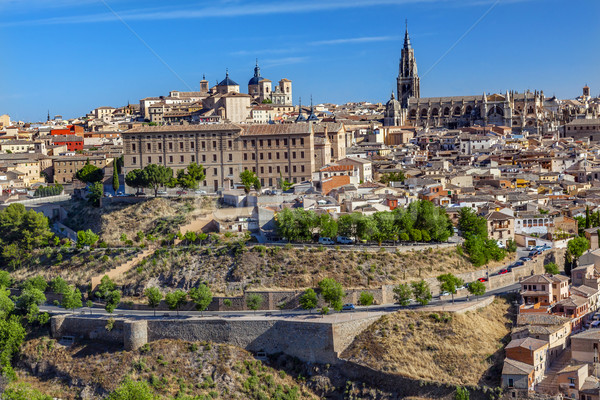 Cathedral Chhurches Medieval City Toledo Spain Stock photo © billperry