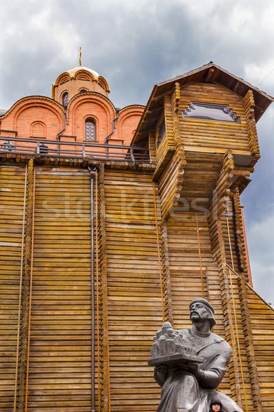 Golden gate sábio estátua Ucrânia um original Foto stock © billperry