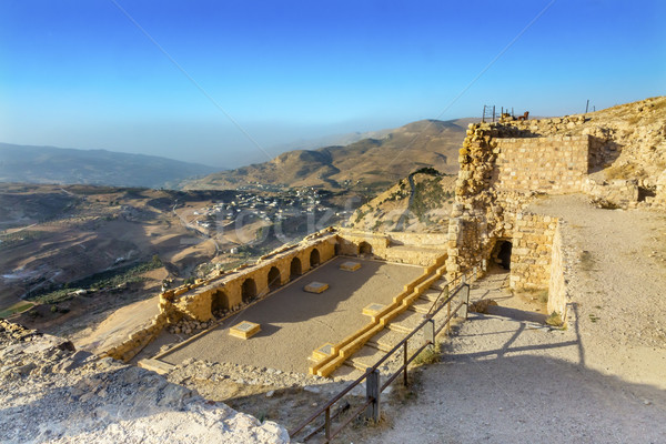 Ancient Crusader Castle View Arabic Fortress Kerak Jordan Stock photo © billperry