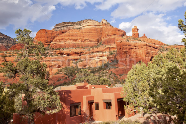 Piros kő kanyon épület kék Arizona Stock fotó © billperry