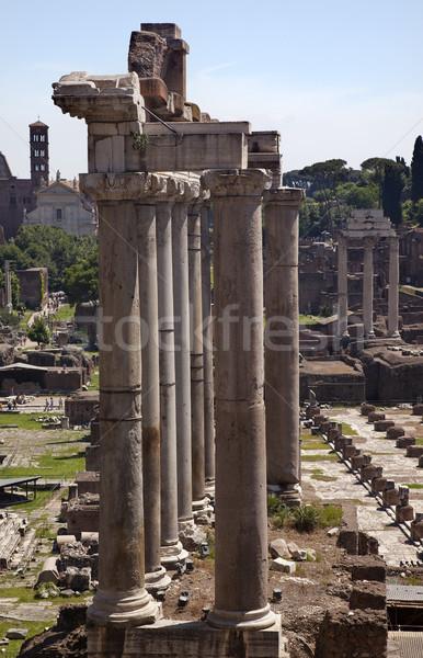 Fórum Roma Itália templo edifício arte Foto stock © billperry