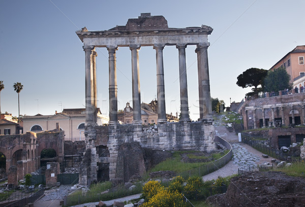 Temples of Saturn Forum Rome Italy Stock photo © billperry