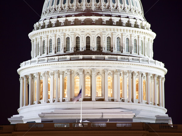 US Capitol Dome Closeup Night Washington DC Stock photo © billperry