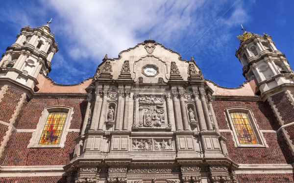 Vecchio basilica santuario Natale giorno Città del Messico Foto d'archivio © billperry