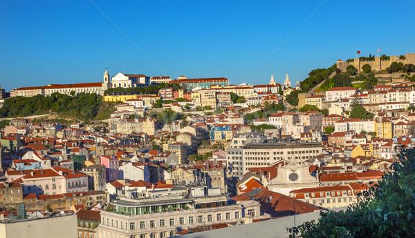 Kolostor kastély kilátás Lisszabon Portugália épület Stock fotó © billperry