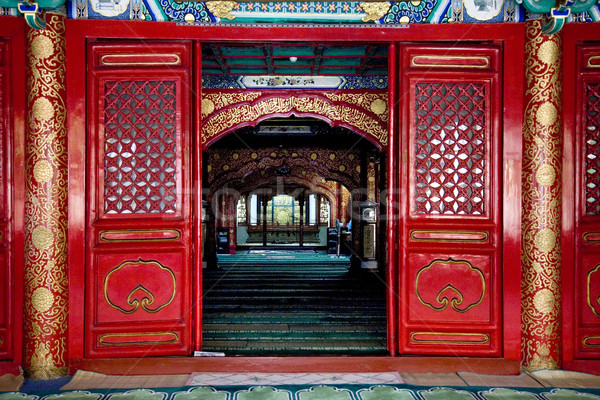Interior vaca calle mezquita Beijing China Foto stock © billperry