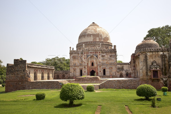 Graf tuinen new delhi Indië oude stad Stockfoto © billperry