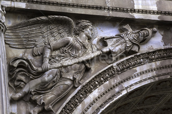 Stone Angel Details Arch of Septemus Severus Forum Rome Italy Stock photo © billperry