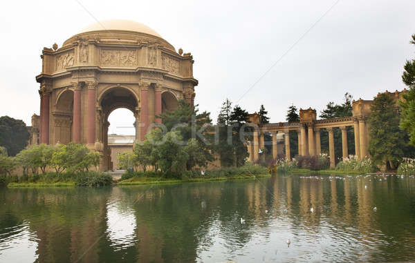 Pałac muzeum San Francisco California różowy Zdjęcia stock © billperry