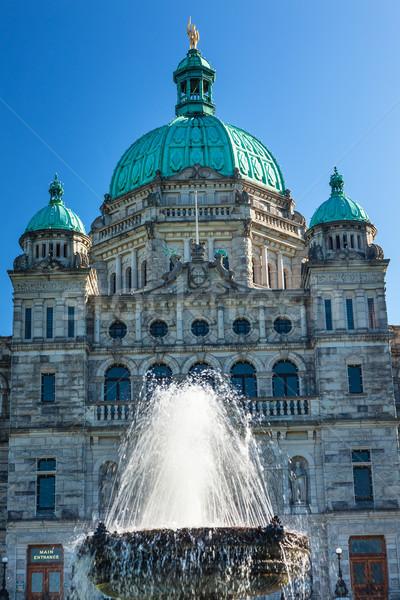 Vancouver statua parlamento britannico Canada oro Foto d'archivio © billperry